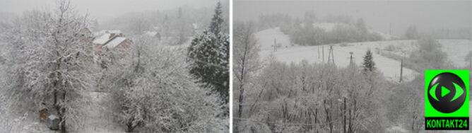Podkarpacie w śniegu, tiry w kłopocie