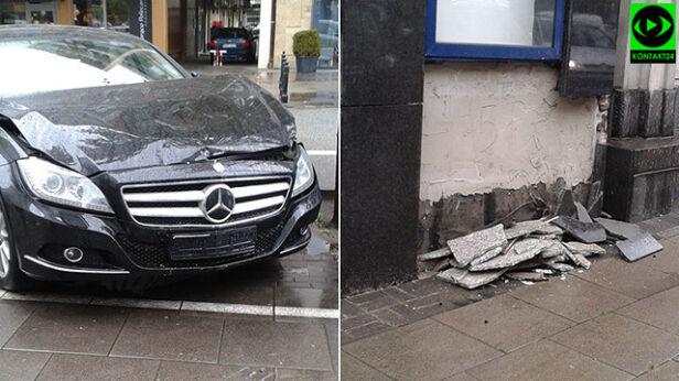 Kierowca uderzył w ścianę Kontakt24/Katarzyna