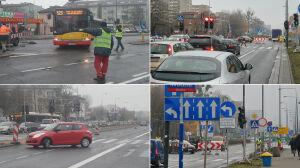 Rozpędzone autobusy na wprost aut. Chaos przy budowie metra