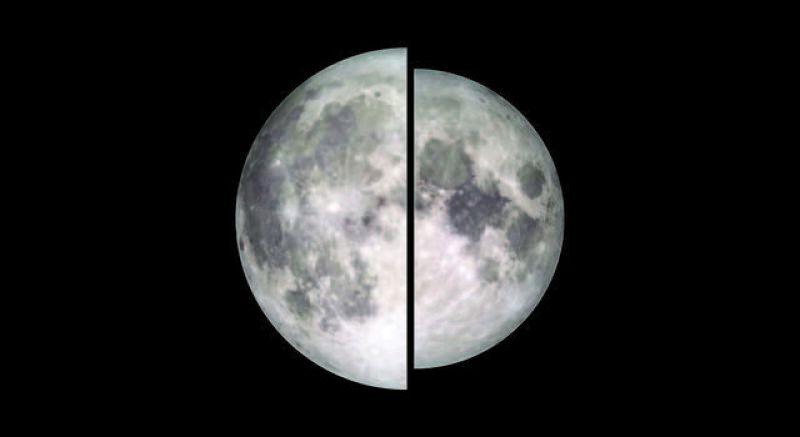 Porównanie wielkości Księżyca (NASA/Goddard/Lunar Reconnaissance Orbiter)