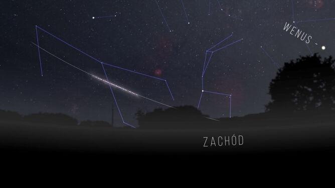 Dzieje się na naszym niebie. Wczoraj nad Polską leciał Falcon 9, dziś przelecą Starlinki
