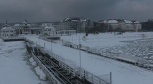 Czwartkowe opady śniegu, 9 lutego (TVN24)